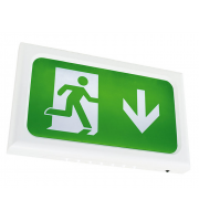 Ansell Encore Emergency Self Test LED Exit Sign (White)