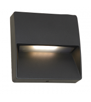 Ansell 10W Galia Square Surface 4000K Wall Light (Graphite)