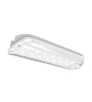 Ansell Kite Led 3M/NM Bulkhead C/w Legend, Self-test (White)