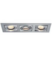 Ansell Lyric 3x50W GU10 Brushed Aluminium Downlight (Brushed Satin)