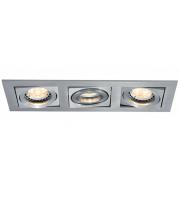 Ansell Lyric 3x50W GU10 Brushed Aluminium Downlight (Brushed Satin)