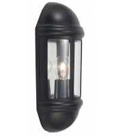 Ansell Latina 42W E27 Half Lantern (Black)