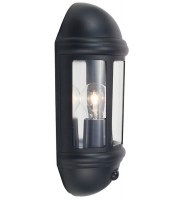 Ansell Latina 42W E27 Pir Half Lantern (Black)
