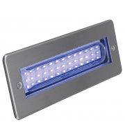 Ansell Libretto Blue Led Rectangular (Stainless Steel)