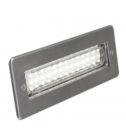 Ansell Libretto 6000K Led Rectangular (Stainless Steel)