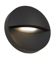 Ansell 10W Matala Circular Surface 4000K Wall Light (Graphite)