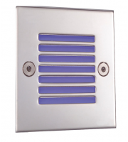Ansell 5500K Led Square Recessed Wall Light (Stainless Steel)