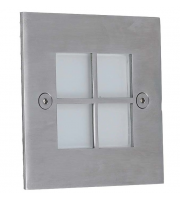 Ansell Window Style Front Plate For AWL/4LED (Stainless Steel)