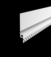 DTS 2 Metre Shadow Gap Plaster in LED Profile (White)