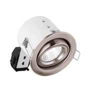 Aurora GU10 Pressed/Cast Adjustable Compact Downlight (Satin Nickel)