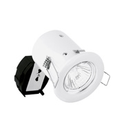 Aurora2 GU10 Fixed Pressed Acoustic Downlighter Fire Protect (White)