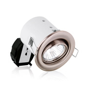 Aurora2 GU10 Adjustable Pressed Acoustic Downlighter (Satin Nickel)