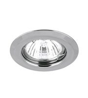 Aurora Fixed Pressed MR16 Downlight Chamfered Edge (Polished Chrome)