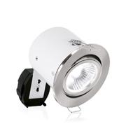 Aurora MR16 Aluminium Adjustable Acoustic Downlight (Satin Nickel)