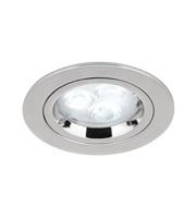 Aurora GZ/GU10 Cast Aluminium Fixed Lock Ring Downlight (Polished Chrome)