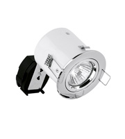 Aurora Lighting 240V GU10 Fixed Firerated Downlight (Polished Chrome)