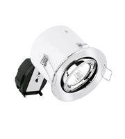 Aurora GU10 Aluminium Adjustable Firerated Downlight (Polished Chrome)