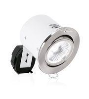 Aurora GU10 Aluminium Adjustable Acoustic Downlight (Satin Nickel)