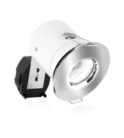 Aurora GU10 Die-Cast IP65 Fixed Acoustic Downlight (Polished Chrome)