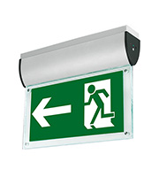 Aurora Lighting Ceiling Mounted LED Emergency Exit Sign (Satin Silver)