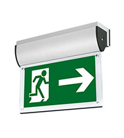 Aurora 240V Aluminium Wall Mounted LED Emergency Exit Sign (Satin Silver)