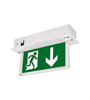 Aurora 240V Ceiling Recessed LED Emergency Exit Sign (White)