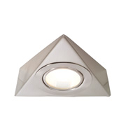 Aurora Lighting Triangle Under Cabinet Downlight (Brushed Chrome)