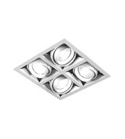 Aurora Lighting GU10 Adjustable Quad Halogen Multiple (Matt White)