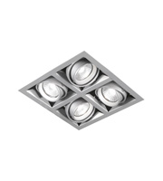 Aurora Lighting GU10 Adjustable Quad Halogen Multiple (Satin Silver)