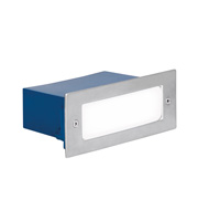 Aurora Lighting Stainless Steel IP54 Rectangular LED Floor Light (White)