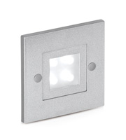 Aurora Lighting LED Fixed Square Stairlight (Satin Silver)