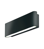 Aurora Lighting 240V Aluminium IP54 Fixed LED Wall Light (Black)