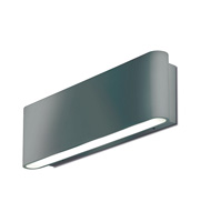 Aurora Lighting 240V Aluminium IP54 Fixed LED Wall Light (Satin Silver)