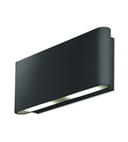 Aurora Lighting 240V Aluminium IP54 Fixed Up/Down LED Wall Light (Black)