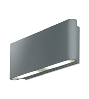 Aurora 240V Aluminium IP54 Fixed Up/Down LED Wall Light (Satin Silver)