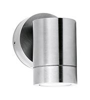 Aurora Lighting GU10 IP65 Fixed Wall Light (Stainless Steel)