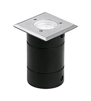 Aurora Lighting IP65 Fixed Square Recessed Walkover Light (Stainless Steel)