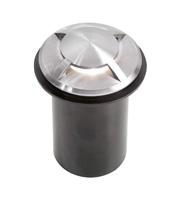 Aurora 240V Stainless Steel IP65 Fixed Round LED Marker Light (Cool White)
