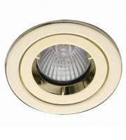 Ansell iCage Mini 50W GU10 / MR16 Die-Cast Downlight (Brass)