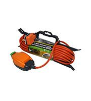 BG Electrical 15 Metre IP54 Extension Lead with In-Line Socket (Orange)
