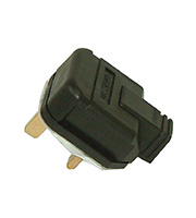 BG Electrical Permaplug 13 Amp Heavy Duty Plug (Black)