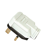 BG Electrical Permaplug 13 Amp Heavy Duty Plug (White)