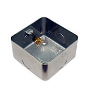 BG Electrical 1 Gang Metalclad Surface Box (Silver)