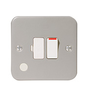 BG Electrical Metalclad Switched Fused Connection Unit (Silver)