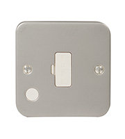 BG Electrical 13A Metalclad Fused Connection Unit (Silver)