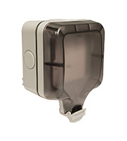 BG Electrical 1 Gang 13A Double Pole Switch Socket (Grey)