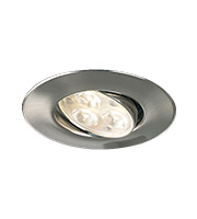 Collingwood Halers H4FF Adjustable Dimmable LED Downlight (Brushed Steel)