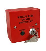 Fire Alarm Mains Isolation Key Switch BS5839 Compliant (Red)