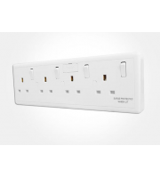 Eterna Converter Socket 1 Or 2 Gang to 4 Gang (White)