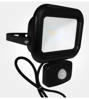 Eterna 10W Led Floodlight With Pir (Black)
